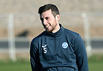 St Johnstone Training…27.10.17<br />New captain Joe Shaughnessy pictured during training this morning at McDiarmid Park ahead of tomorrows trip to Partick Thistle<br />Picture by Graeme Hart.<br />Copyright Perthshire Picture Agency<br />Tel: 01738 623350  Mobile: 07990 594431