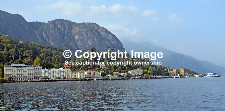GV, general view, coastal town, Lake Como, Italy, 4th September 2014, 201410043708<br />
