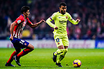 Rafael Alcantara of FC Barcelona (R) in action against Rodrigo Cascante of Atletico de Madrid (L) during the La Liga 2018-19 match between Atletico Madrid and FC Barcelona at Wanda Metropolitano on November 24 2018 in Madrid, Spain. Photo by Diego Souto / Power Sport Images