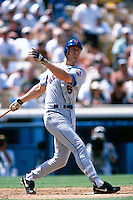 John Olerud of the New York Mets participates in a Major League Baseball game at Dodger Stadium during the 1998 season in Los Angeles, California. (Larry Goren/Four Seam Images)