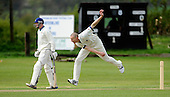 Scottish National Cricket League, Premier Div - Stock image of Aberdeenshire bowler Chris West - who broke his ankle on Sunday and is likely to miss the entire season - in full flow past Dunfermile Pro Alistair Gray - Picture by Donald MacLeod 02.05.10 - mobile 07702 319 738