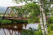 Railroad trestle along the old Boston and Maine Railroad near Fabyans in Carroll, New Hampshire USA.
