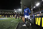Romelu Lukaku of Everton walks out onto the pitch - UEFA Europa League Round of 32 Second Leg - Everton vs Young Boys - Goodison Park Stadium - Liverpool - England - 26th February 2015 - Picture Simon Bellis/Sportimage