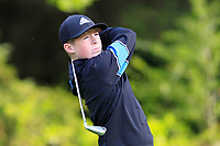Diarmuid O'Brien (Athlone) on the 1st tee during the Connacht U12, U14, U16, U18 Close Finals 2019 in Mountbellew Golf Club, Mountbellew, Co. Galway on Monday 12th August 2019.<br /> <br /> Picture:  Thos Caffrey / www.golffile.ie<br /> <br /> All photos usage must carry mandatory copyright credit (© Golffile | Thos Caffrey)
