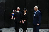 U.S. Secretary of Defense James Mattis,<br /> General John Kelly, White House Chief of Staff<br /> and Cindy McCain, wife of late Senator John McCain, lay a ceremonial wreath honoring all whose lives were lost during the Vietnam War at at the Vietnam Veterans Memorial in Washington, U.S., September 1, 2018.  <br /> Credit: Mary F. Calvert / Pool via CNP