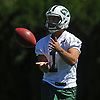 Ross Martin #1 of the New York Jets works on special teams drills during the second day of team training camp held at Atlantic Health Jets Training Center in Florham Park, NJ on Sunday, July 30, 2017.