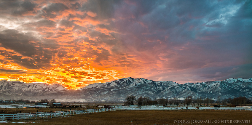 On the shortest evening of the year from Heber Valley, UT.