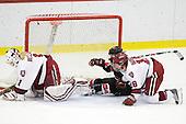 Laura Bellamy (Harvard - 1), Casey Pickett (NU - 14), Cori Bassett (Harvard - 18) - The Harvard University Crimson defeated the Northeastern University Huskies 1-0 to win the 2010 Beanpot on Tuesday, February 9, 2010, at the Bright Hockey Center in Cambridge, Massachusetts.