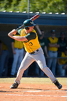 Wayne State Warriors outfielder Eric Cunningham #3 during a game against Slippery Rock at Chain of Lakes Stadium on March 15, 2013 in Winter Haven, Florida.  Illinois State defeated Long Island 6-4.  (Mike Janes/Four Seam Images)