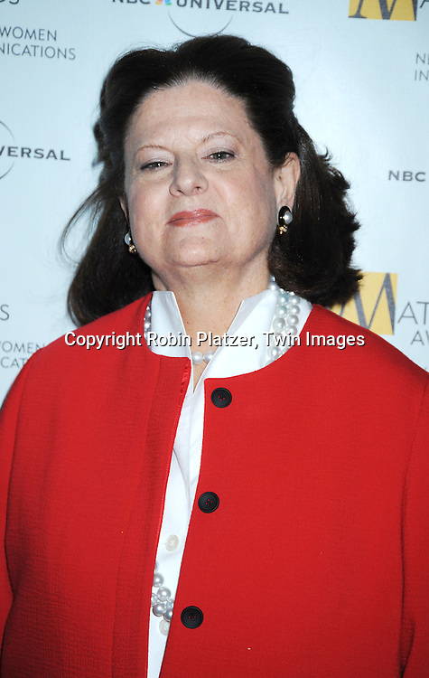 honoree Anne Keating  at The 2010 Matrix Awards on April 19, 2010 at The Waldorf Astoria Hotel in New York City.