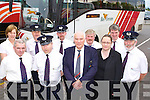 Bus Eireann driver Chris Mann Listowel gets a big send off from his colleagues when he pulled into the Killarney depot for the last time on Thursday front row l-r: Maurice Daly Ballyfinnane, Tom O'Brien Firies, Chris Mann, Blathi?n McElligott Tralee, Sean O'Connor Ballyduff. Back row; Margaret Kiely Millstreet, Mike Tyther Castlemaine, Tim Collins Tralee, John Murphy Glenbeigh and Sean Enright Killarney     Copyright Kerry's Eye 2008