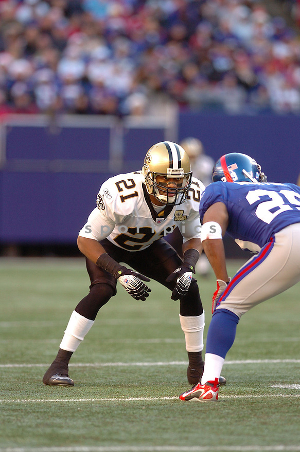 JASON CRAFT, of the New Orleans Saints during their game against the New York Giants on December 24, 2006 in NJ...Saints win 30-7..Tomasso DeRosa / SportPics