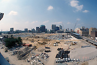 1997 June 10..Redevelopment..Macarthur Center.Downtown North (R-8)..LOOKING SOUTH.FROM FREEMASON GARAGE.SUPERWIDE..NEG#.NRHA#..