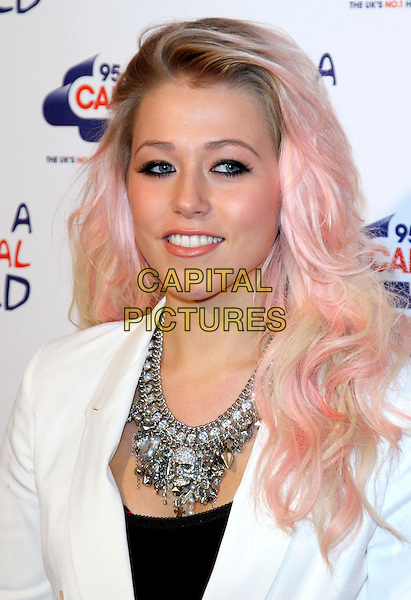 Amelia Lily.Capital Rocks at the Roundhouse, Chalk Farm, Camden, London, England, UK, .November 29th 2012..portrait headshot pink dyed hair silver necklace black white skulls skull .CAP/ROS.©Steve Ross/Capital Pictures.