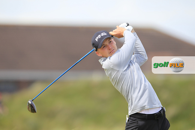 Charlie Thornton (Fulford) on the 5th tee during Round 1 of the The Amateur Championship 2019 at The Island Golf Club, Co. Dublin on Monday 17th June 2019.<br /> Picture:  Thos Caffrey / Golffile<br /> <br /> All photo usage must carry mandatory copyright credit (© Golffile   Thos Caffrey)