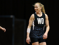 05.08.2015 Silver Ferns Laura Langman during Silver Ferns training ahead of the 2015 Netball World Champs at All Phones Arena in Sydney, Australia. Mandatory Photo Credit ©Michael Bradley.
