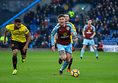 9th December 2017, Turf Moor, Burnley, England; EPL Premier League football, Burnley versus Watford; Jeff Hendrick of Burnley runs clear with the ball