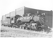 Engineer side view of K-36 #480 by the Salida roundhouse.<br /> D&amp;RGW  Salida, CO  Taken by Payne, Andy M. - 8/23/1954