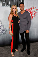 "LOS ANGELES, CA. August 28, 2018: Sam Upton & Tracy Upton at the world premiere of ""Peppermint"" at the Regal LA Live."