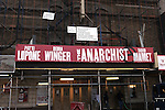 'The Anarchist' (Theatre Marquee & Renovation) Two-time Tony Award winner Patti LuPone, will go head-to-head with three-time Oscar nominee Debra Winger, as two powerful women forced to engage in a cage match of wits. Passion. Deception. Religion. Revolution. These thrilling topics and more are brought to light in the world premiere of this provocative two-hander by David Mamet.  The John Golden Theatre  in New York, NY on September 14, 2012.