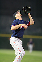 2007:  Chad Spann of the Pawtucket Red Sox, Class-AAA affiliate of the Boston Red Sox, during the International League baseball season.  Photo by Mike Janes/Four Seam Images