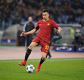 5th December 2017, Stadio Olimpic, Rome, Italy; UEFA Champions league football, AS Roma versus Qarabağ FK; Stephan El Shaarawy