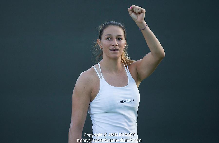 MARIANA DUQUE-MARINO (ESP)<br /> <br /> TENNIS - THE CHAMPIONSHIPS - WIMBLEDON 2015 -  LONDON - ENGLAND - UNITED KINGDOM - ATP, WTA, ITF <br /> <br /> &copy; AMN IMAGES23