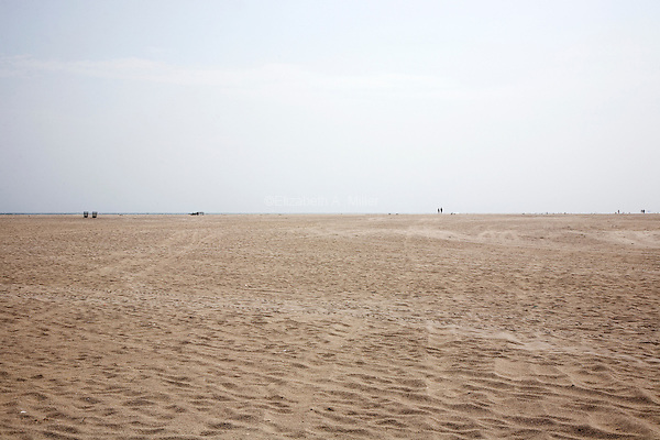 The empty beach at Jones Beach in Wantagh, New York on 07 August 2011.
