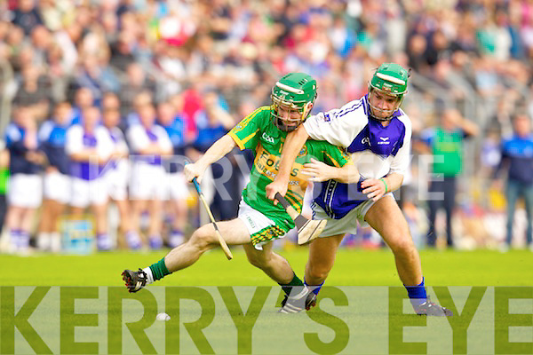 Kevin Orpen Saint Brendans in action against James Flaherty Lixnaw in the Senior County Hurling Final at Austin Stack Park Tralee on Sunday.