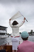 Henley-on-Thames. United Kingdom.  2017 Henley Royal Regatta, Henley Reach, River Thames. <br /> Henley Steward and Umpire.  Miss Guin BATTEN<br /> 10:28:17  Wednesday  28/06/2017<br /> <br /> [Mandatory Credit. Intersport Images].