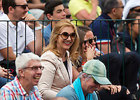 France, Paris , May 24, 2015, Tennis, Roland Garros, IN the crowd the mother of Igor Sijsling (NED)<br /> Photo: Tennisimages/Henk Koster