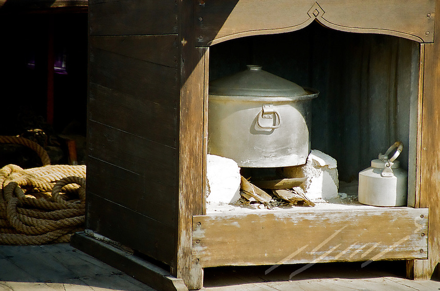 A traditional oven, specially customed to be used while traveling between countries on wooden ships.