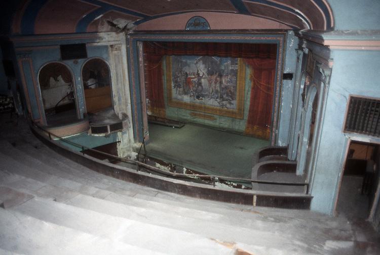 1993 February ..Rehabilitation..Attucks Theatre.Church Street..THEATRE STAGE FROM RIGHT BALCONY.INTERIOR...NEG#.NRHA#..