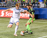 Seattle, Washington - September 23, 2015: Seattle Sounders FC  defeated the Vancouver Whitecaps 3-0 at Scotiabank CONCACAF Champions League Group Stage match on the Xbox Pitch at CenturyLink Field.