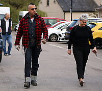 "COPY BY TOM BEDFORD<br /> Pictured: Paul Black (L) arrives with a relative at Aberdare Coroner's Court, Wales, UK. Wednesday 04 October 2017<br /> Re: Inquest to be held at Aberdare Coroner's Court, into the death of Pearl Black, a toddler who died after a parked Range Rover's brakes failed and it hit a garden wall which fell on top of her in Merthyr Tydfil.<br /> One year old Pearl Melody Black and her eight-month-old brother were taken to hospital after the incident in south Wales.<br /> Pearl's family, father Paul who is The Voice contestant and mum Gemma have said she was ""as bright as the stars""."