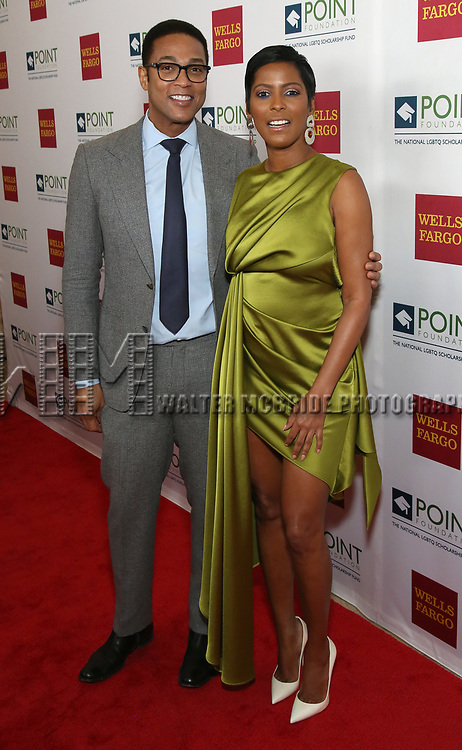 Don Lemon and Tamron Hall attends the Point Foundation hosts Annual Point Honors New York Gala Celebrating The Accomplishments Of LGBTQ Students at The Plaza Hotel on April 9, 2018 in New York City.