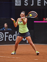 April 18, 2015, Netherlands, Den Bosch, Maaspoort, Fedcup Netherlands-Australia,   Casey Dellacqua (AUS) <br /> Photo: Tennisimages/Henk Koster