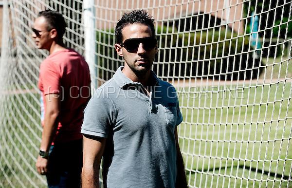 Belgian football managers Yannick Ferrera and Mohammed Ouahbi (Belgium, 06/08/2015)