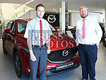 Eoin Lattimore and Mark reynolds of Brian Reynolds Mazda. Photo:Colin Bell/pressphotos.ie