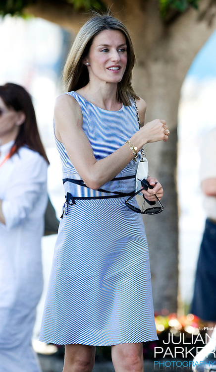 Crown Princess Letizia of Spain, at the Royal Yacht Club in  Palma, Mallorca. On the third day of The Copa Del Rey sailing regatta.