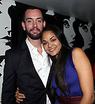 Karen Olivo & Guest attending the Opening Night Performance After Party for the Manhattan Theatre Club's 'Murder Ballad' at Suite 55 in New York City on 11/15/2012