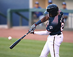 Reno Aces&rsquo; Socrates Brito hits against the Las Vegas 51s in Reno, Nev. on Saturday, June 3, 2017. The 51s won 9-5.<br /> Photo by Cathleen Allison/Nevada Photo Source