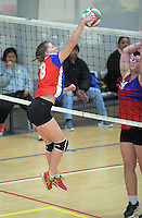 Action from the College Sport Wellington junior volleyball tournament at ASB Sports Centre in Wellington, New Zealand on Saturday, 12 November 2016. Photo: Dave Lintott / lintottphoto.co.nz