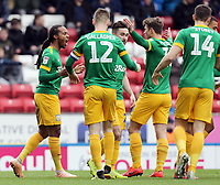 Preston North End's Daniel Johnson (left) celebrates with team-mates after scoring the opening goal <br /> <br /> Photographer Rich Linley/CameraSport<br /> <br /> The EFL Sky Bet Championship - Blackburn Rovers v Preston North End - Saturday 9th March 2019 - Ewood Park - Blackburn<br /> <br /> World Copyright © 2019 CameraSport. All rights reserved. 43 Linden Ave. Countesthorpe. Leicester. England. LE8 5PG - Tel: +44 (0) 116 277 4147 - admin@camerasport.com - www.camerasport.com