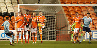 Accrington Stanley's Jordan Clark<br /> <br /> Photographer Rachel Holborn/CameraSport<br /> <br /> The EFL Checkatrade Trophy Group C - Blackpool v Accrington Stanley - Tuesday 13th November 2018 - Bloomfield Road - Blackpool<br />  <br /> World Copyright © 2018 CameraSport. All rights reserved. 43 Linden Ave. Countesthorpe. Leicester. England. LE8 5PG - Tel: +44 (0) 116 277 4147 - admin@camerasport.com - www.camerasport.com