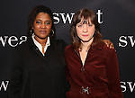 Lynn Nottage and Kate Whoriskey attends the photocall for the Broadway cast of 'Sweat'  at The New 42nd Street Studios on 2/16/2017 in New York City.