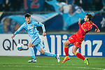 Adelaide United Forward Nikola Mileusnic (R) and Jiangsu FC Midfielder Zhang Xiaobin (L) during the AFC Champions League 2017 Group H match between Jiangsu FC (CHN) vs Adelaide United (AUS) at the Nanjing Olympics Sports Center on 01 March 2017 in Nanjing, China. Photo by Marcio Rodrigo Machado / Power Sport Images