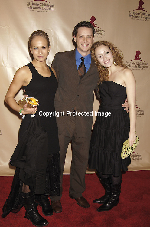 Jen Landon, Jesse Soffer and Jennifer Ferrin ..at the 11th Annual Daytime Television Salutes St. Jude Children's Research Hospital benefit hosted by Martha Byrne on October 14, 2005 at The New York Marriott Marquis Hotel. ..Photo by Robin Platzer, Twin Images