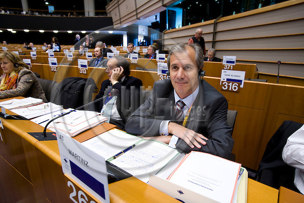 BRUSSELS - BELGIUM - 07 FEBRUARY 2008 -- Regional Minister Josef MARTINZ, Austrian Region of Carinthia, during a meeting in the Committee of the Regions.    Photo: Erik Luntang/EUP-IMAGES/
