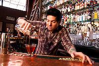 Bartender Craig Montgomery preparing a La Louisianne at Circa 33